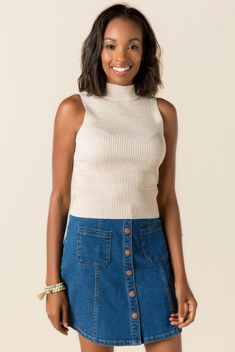 Aubree Ribbed Crop Tank-  hthot-cl