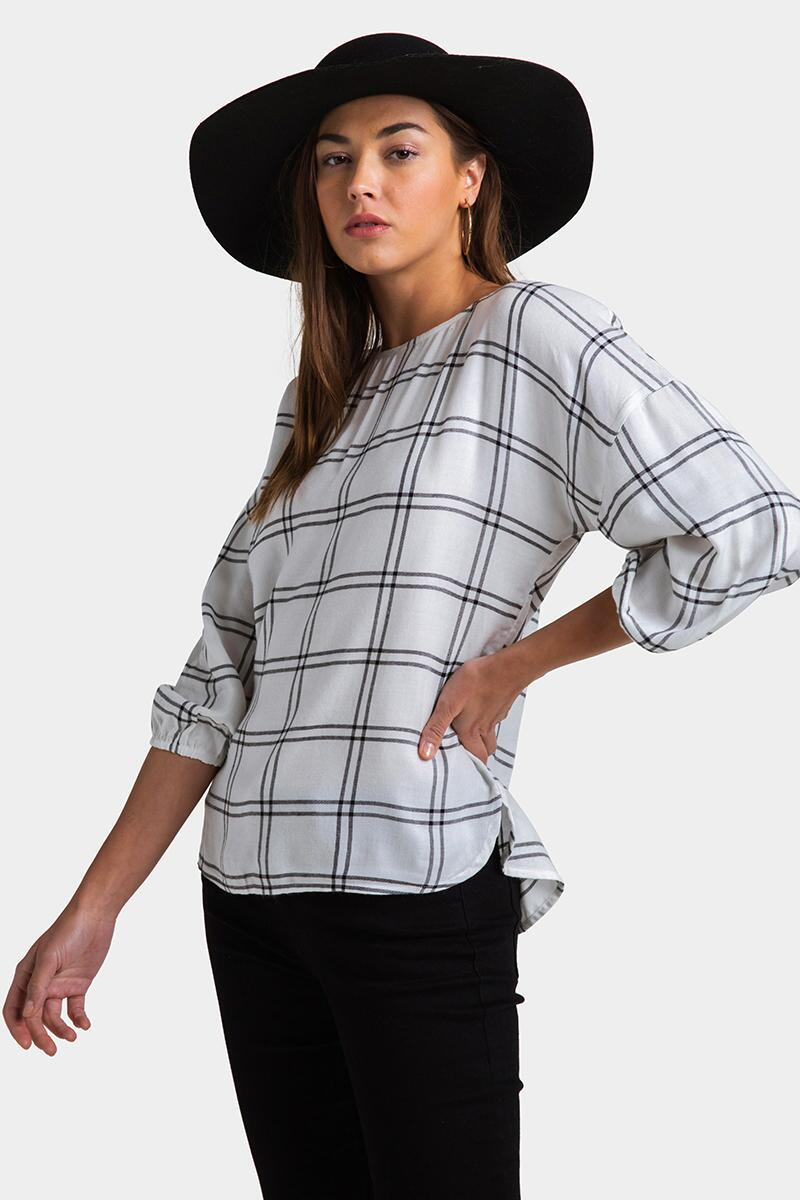 Andria Button Back Blouse