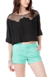 Quinn Embroidered Crop Top