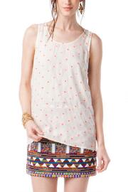 Jun & Ivy Embroidered Polka Dot Tank