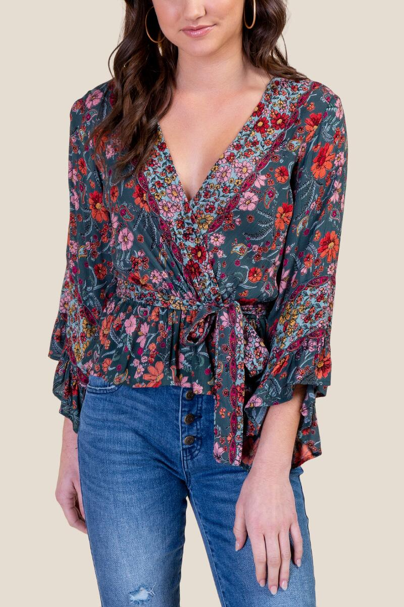 Norah Wrapped Blouse