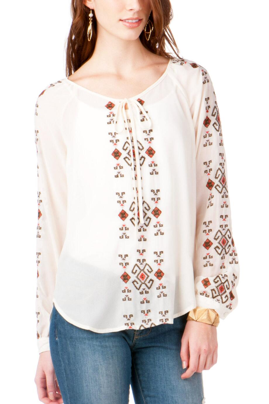 Navarre Embroidered Top
