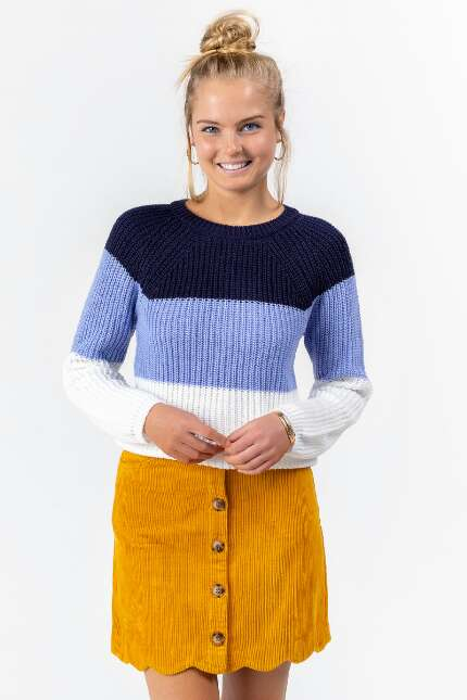 Joey Color-Block Scallop Sweater