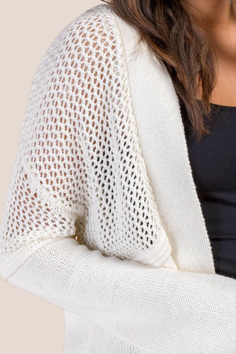 Claudia Pointelle Knit Cardigan-  ivry-cl3