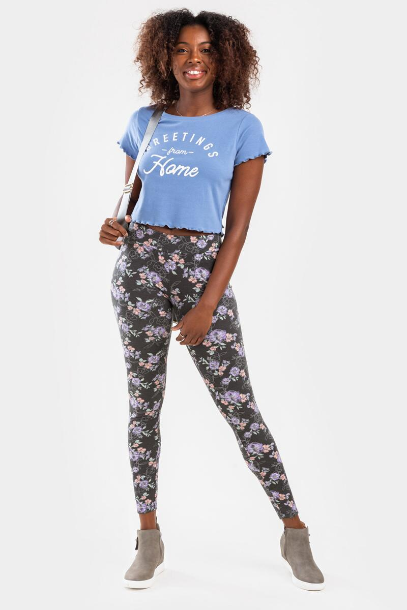 Greetings From Home Cropped Tee- Light Blue 6
