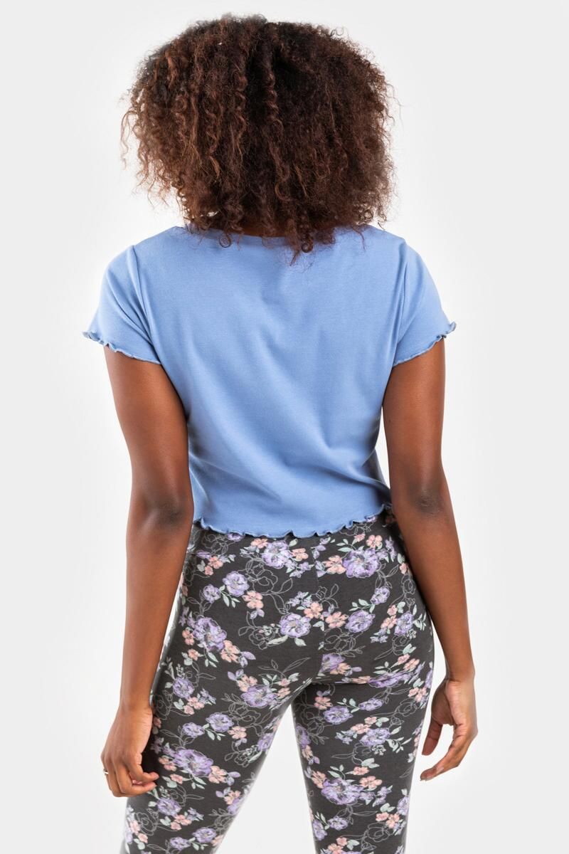 Greetings From Home Cropped Tee- Light Blue 7