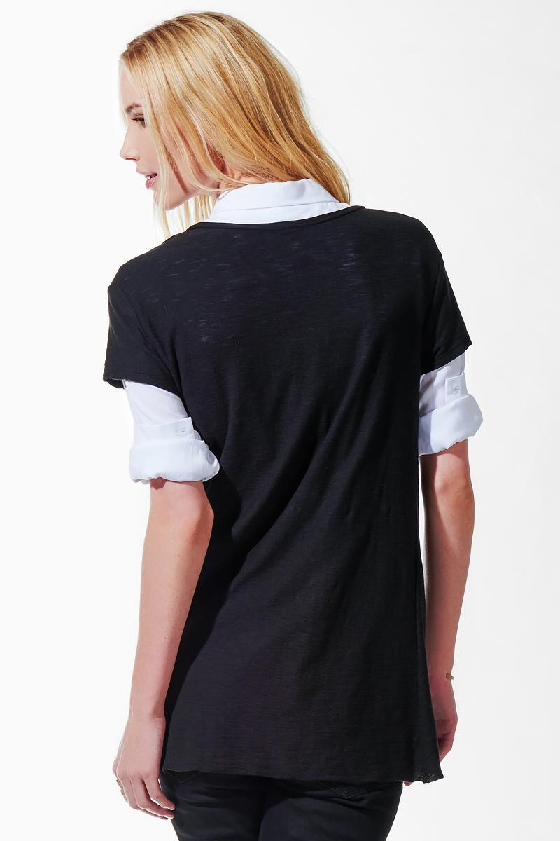 Auden Knotted Tee-  blk-clback