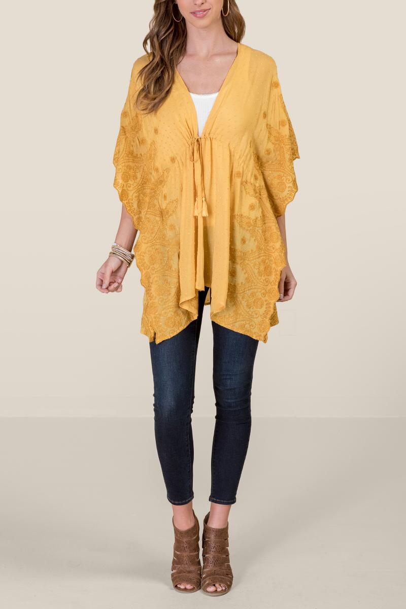 Lily Embroidered Swiss Dot Kimono-suns-cl 4