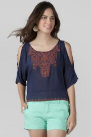 Camargo Cold Shoulder Blouse
