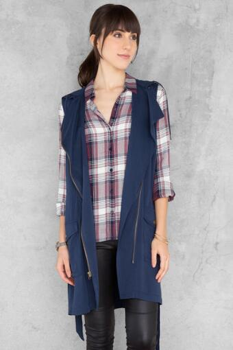 Harper Hooded Trench Vest