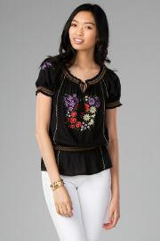 Monclova Embroidered Peplum Top