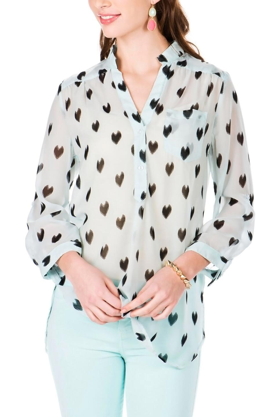 Deep Ellum Printed Blouse-  lblu-cl