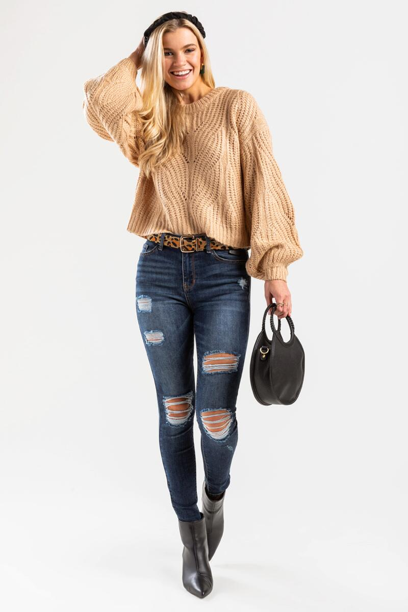 Averie Cable Pullover Sweater-beige-cl 2