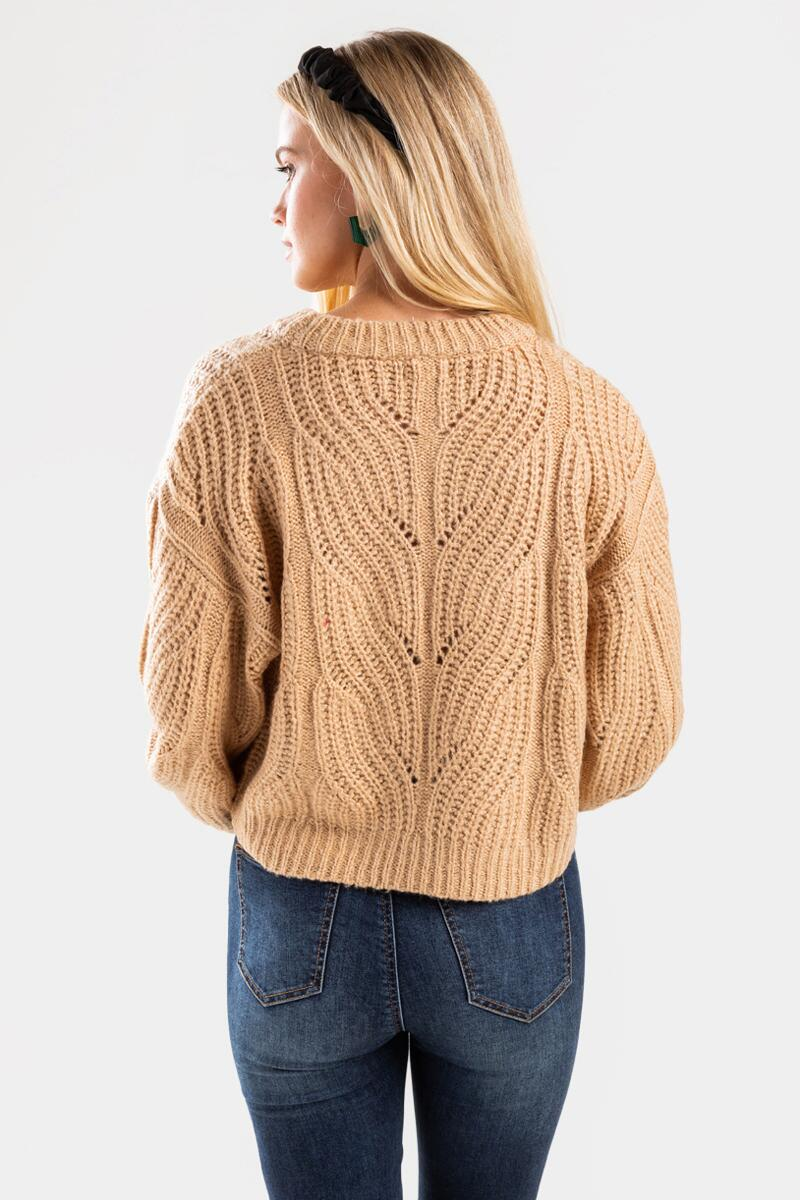 Averie Cable Pullover Sweater-beige-cl 3