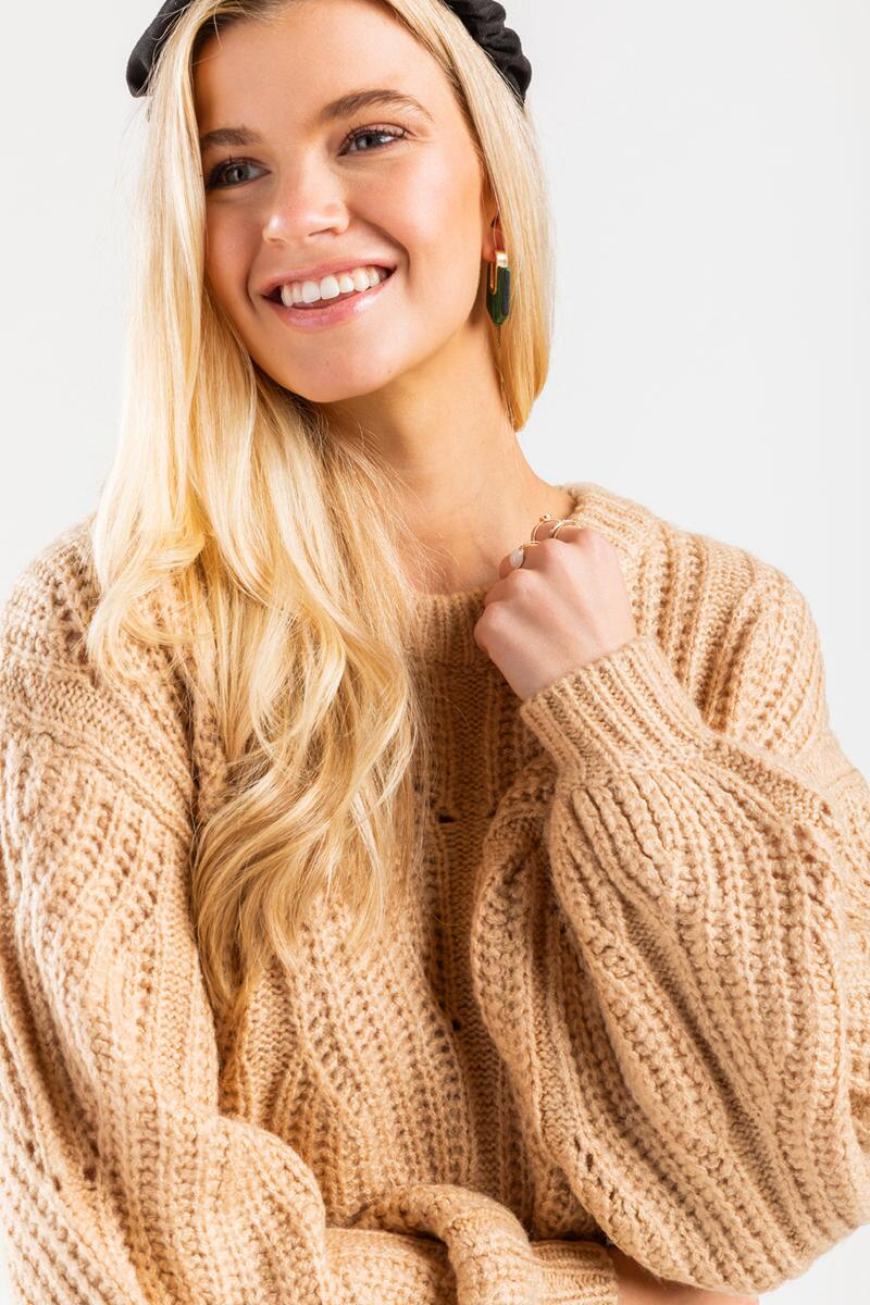 Averie Cable Pullover Sweater-beige-cl 4