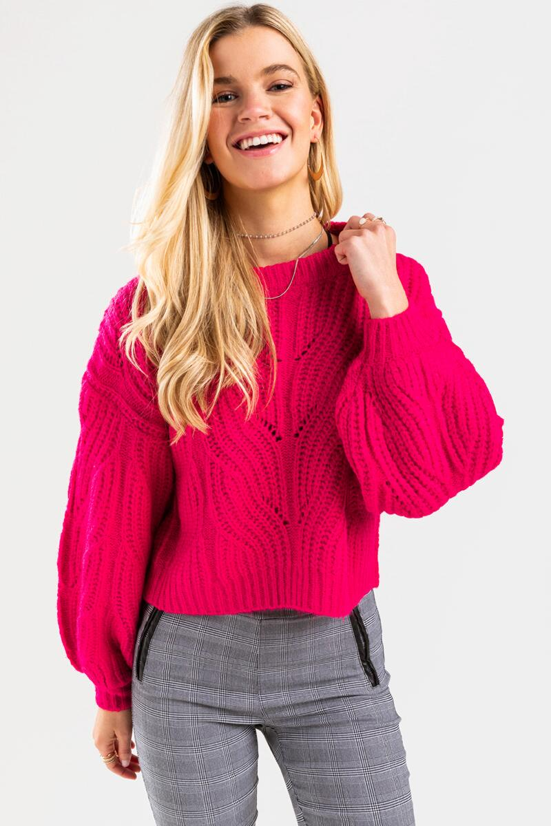 Averie Cable Pullover Sweater