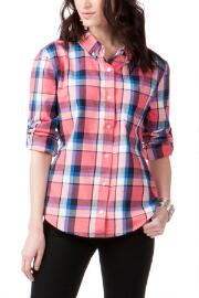 Cottonwood Plaid Buttoned Top