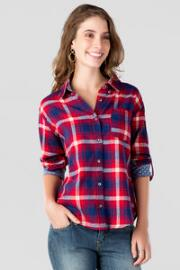 Desoto Plaid Buttoned Top