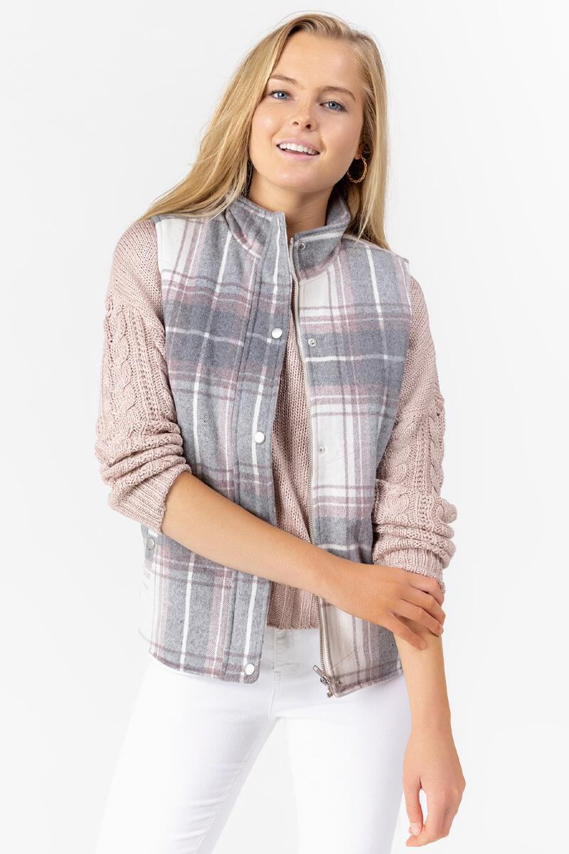 Adalena Buffalo Plaid Vest-  ivry-cl3