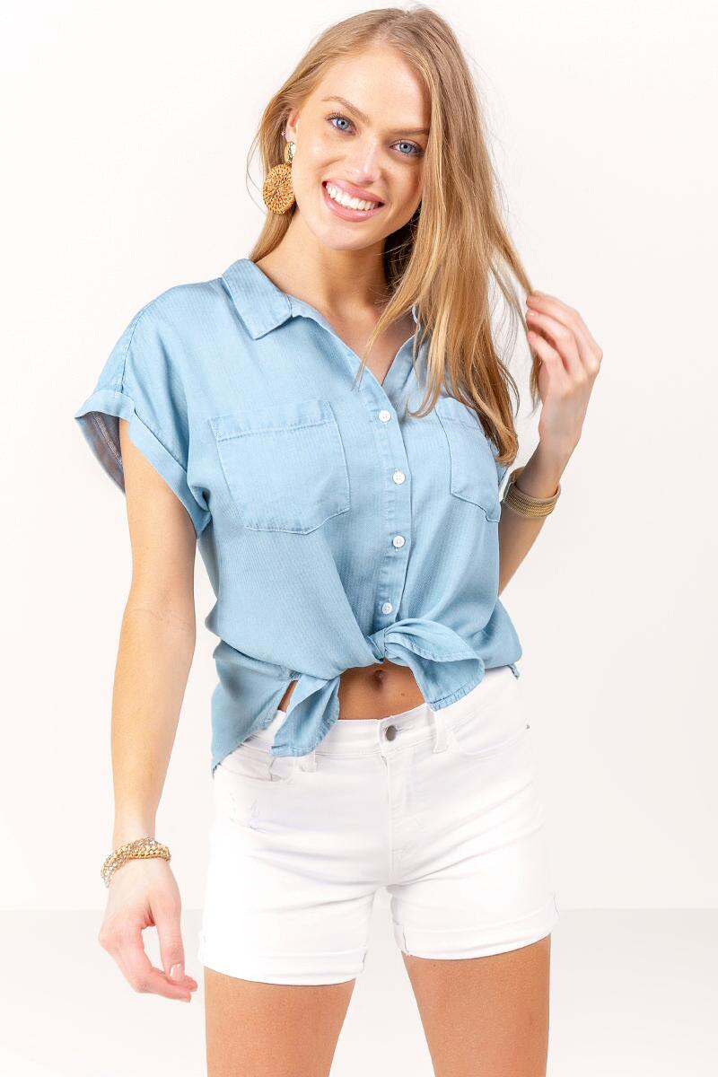 Kaitlyn Button Down Top-  lite-cl