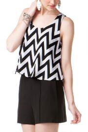 Lucina Chevron Crop Top