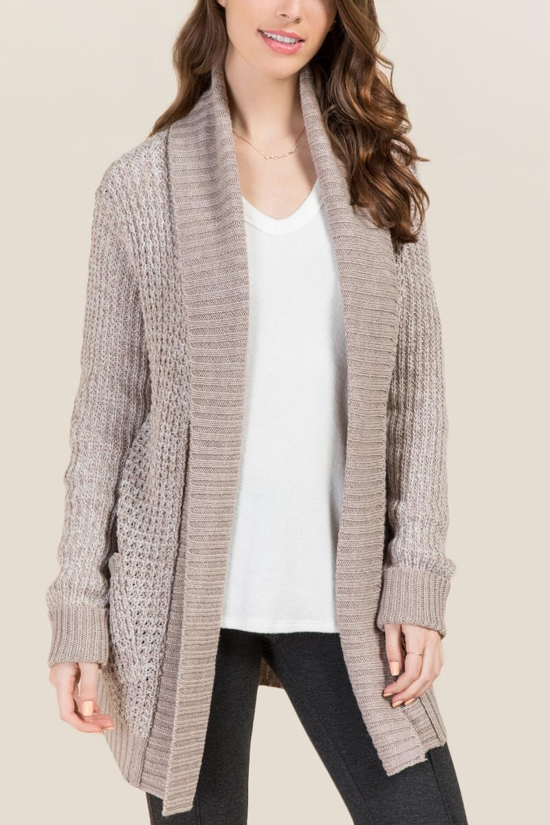 Brooke Shawl Collar Elbow Patch Sweater