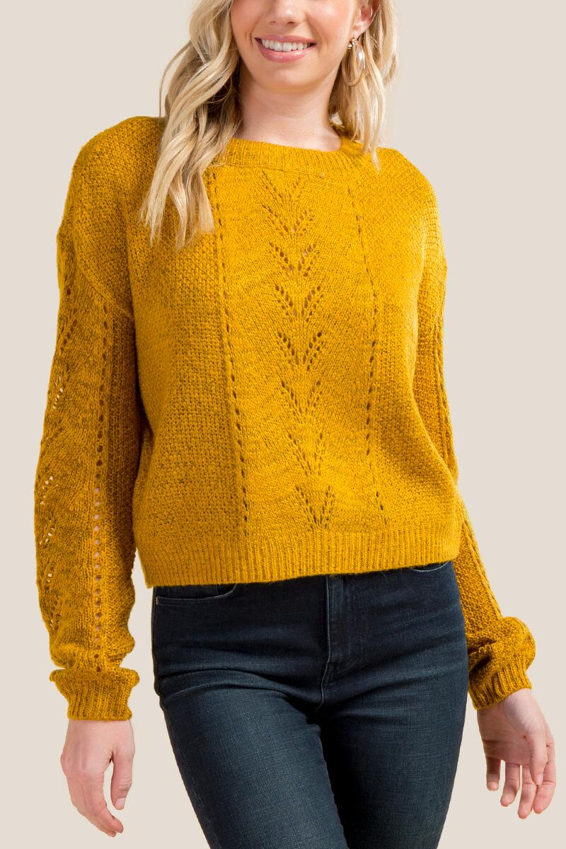 Sydney Pointelle Cropped Sweater