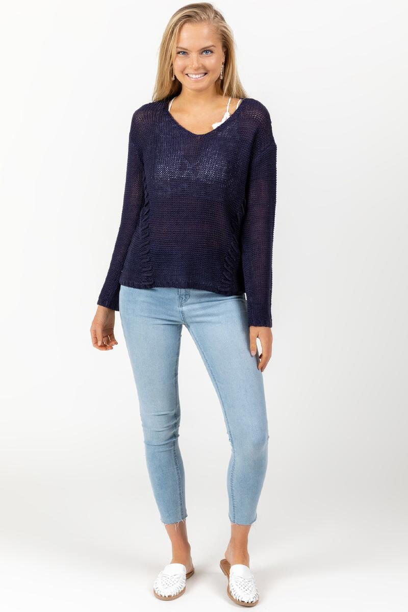 Desi Whip Stitch Sweater-navy-cl 3