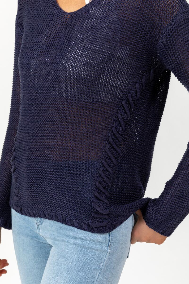 Desi Whip Stitch Sweater-navy-cl 4