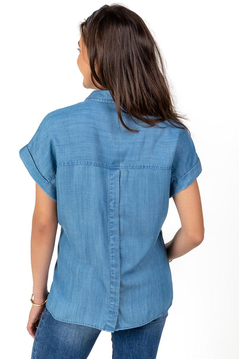 Flora Back Button Top-  lite-cl2