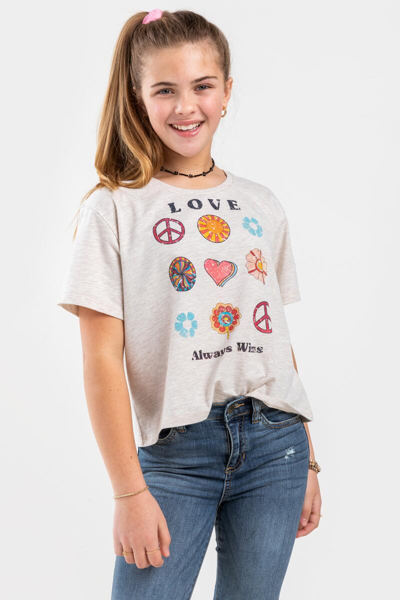 franki Love Always Wins Tee for Girls