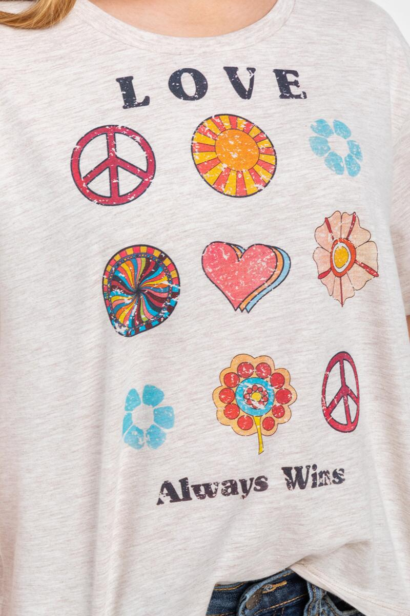 franki Love Always Wins Tee for Girls-  hthot-cl4