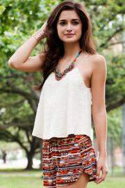 Almena Embroidered Tank