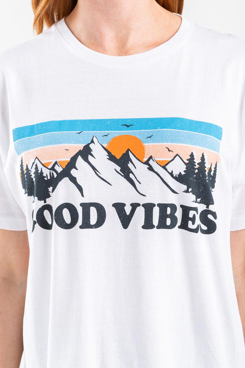 Good Vibes Graphic Tee-  white-cl4