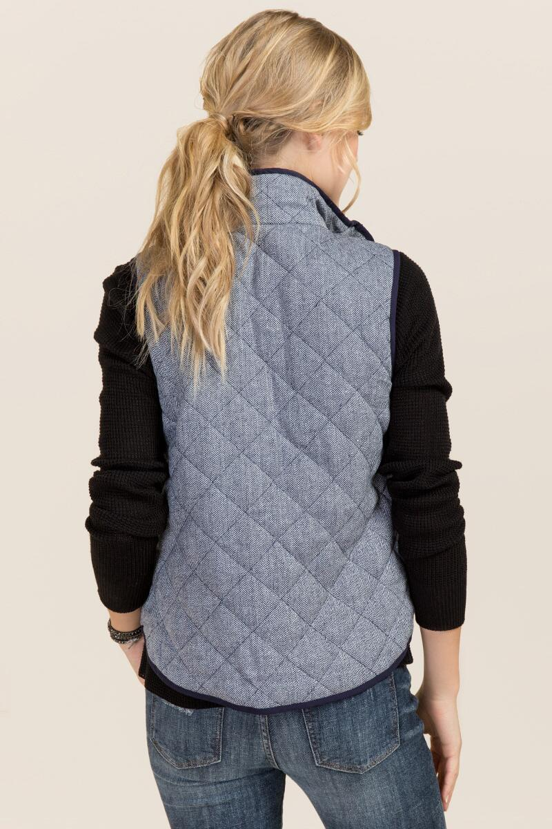 Lexington Quilted Vest in Navy-  navy-clback