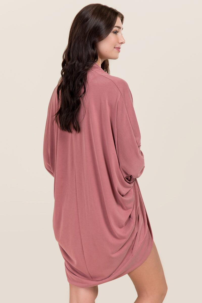 Lakyn Cupro Cocoon Wrap-  rose-clback