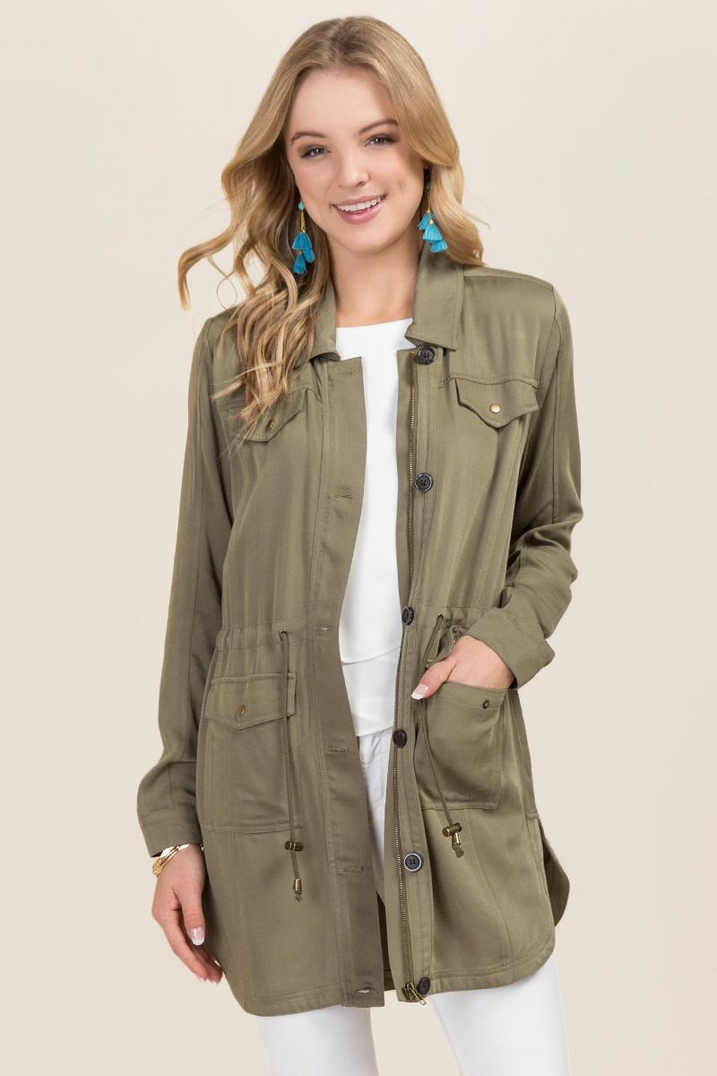 Leia Soft Anorak Jacket-  olv-cl