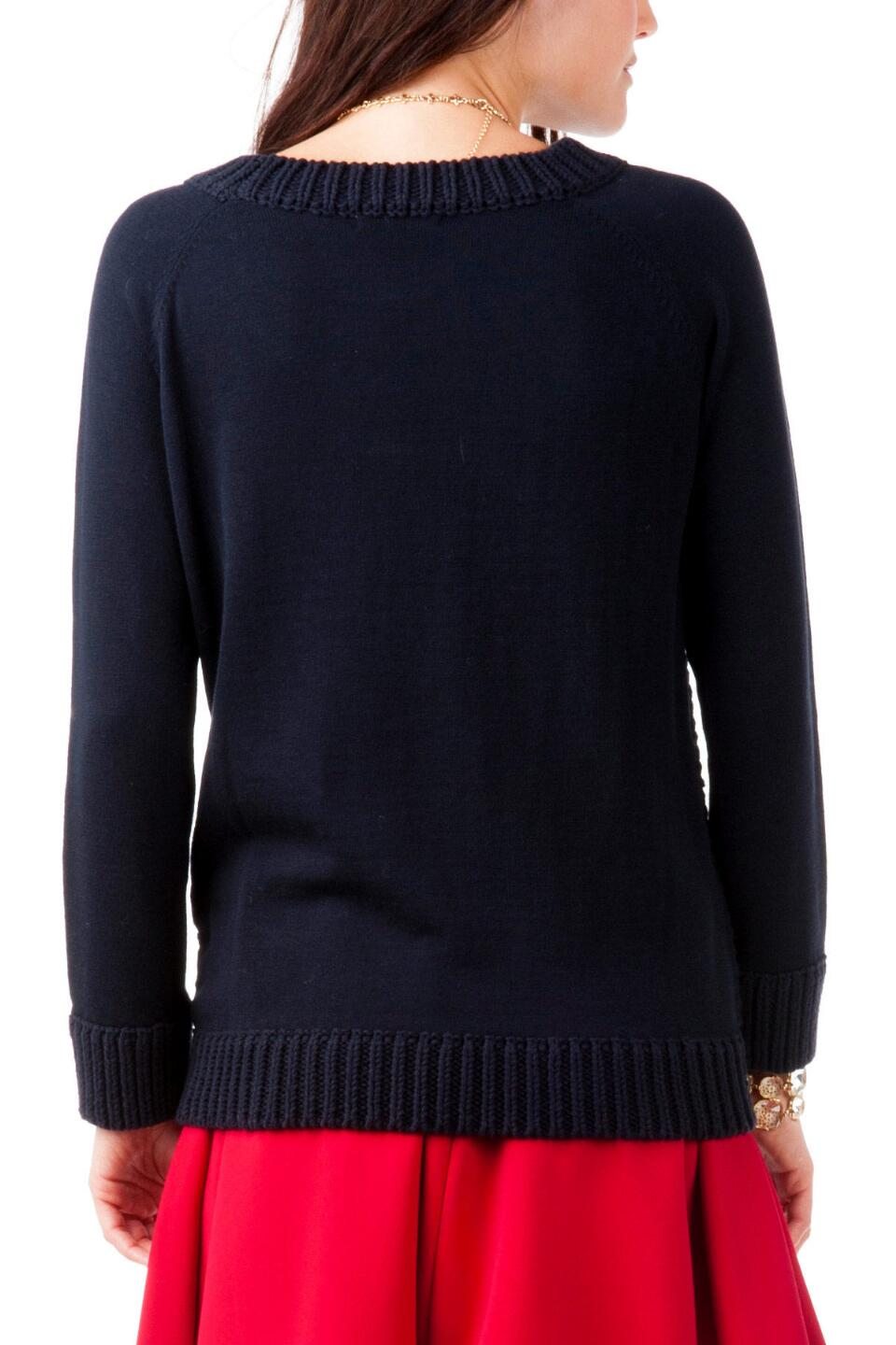 Sandy Springs Pullover Sweater -  navy-clback