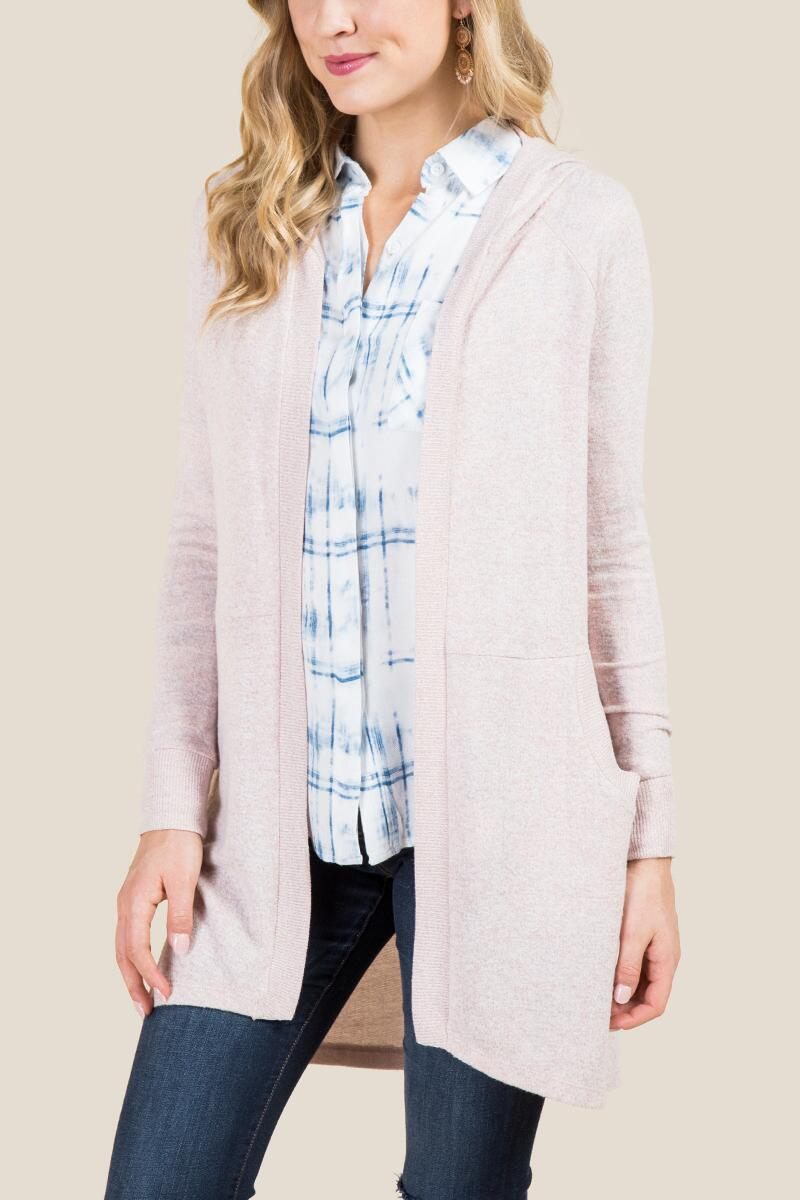 Piper Cozy Hooded Cardigan
