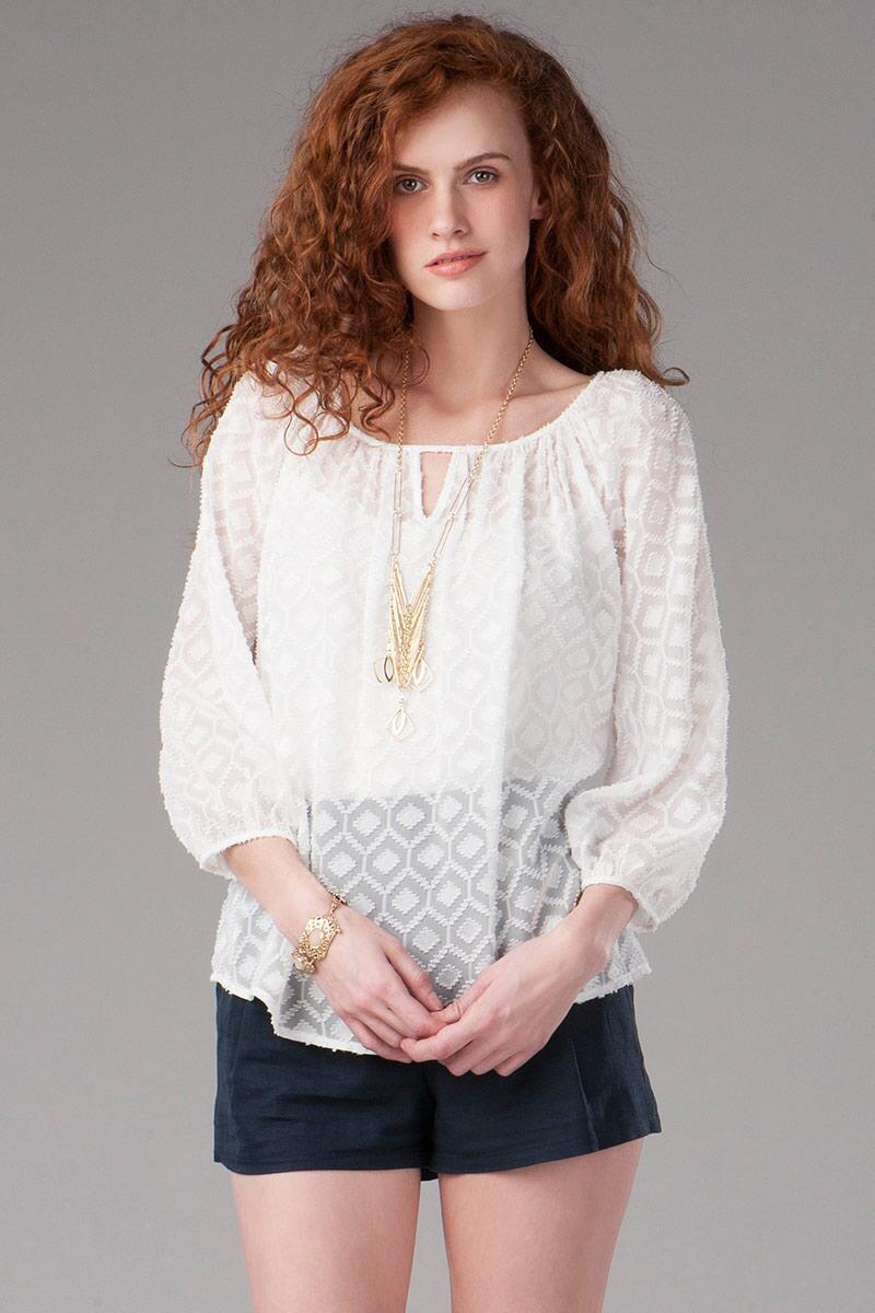 Hanley Textured Blouse
