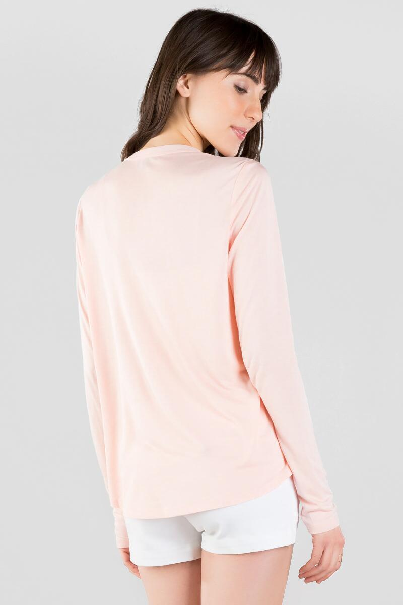 Brentwood Solid Blouse-  blush-clback