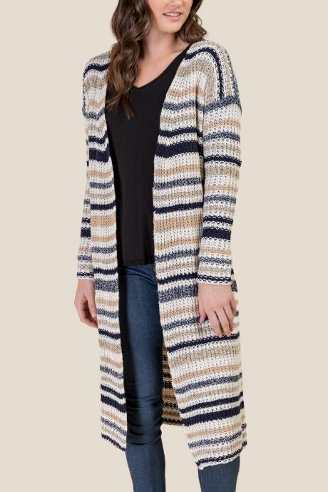 Harmony Striped Duster Cardigan