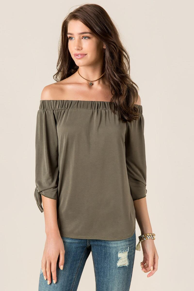Baylee Tie Sleeve Off the Shoulder Top
