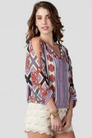 Kiowa Cold Shoulder Printed Blouse