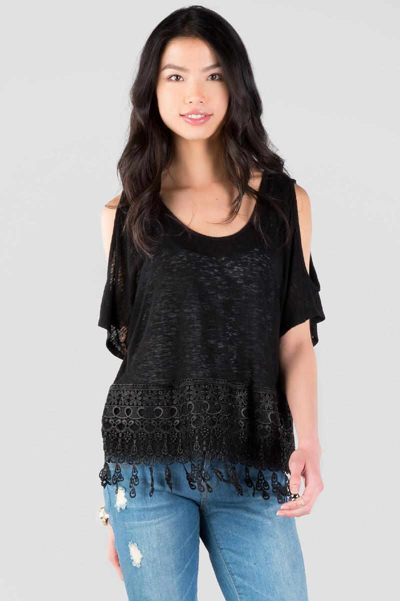 Cordelle Cold Shoulder Tee