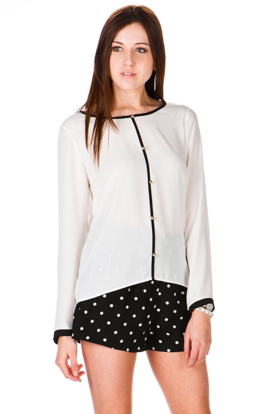 Boston Post Buttoned Blouse