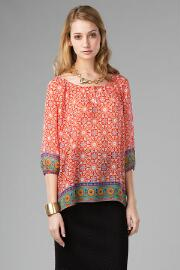 St. Ives Printed Blouse