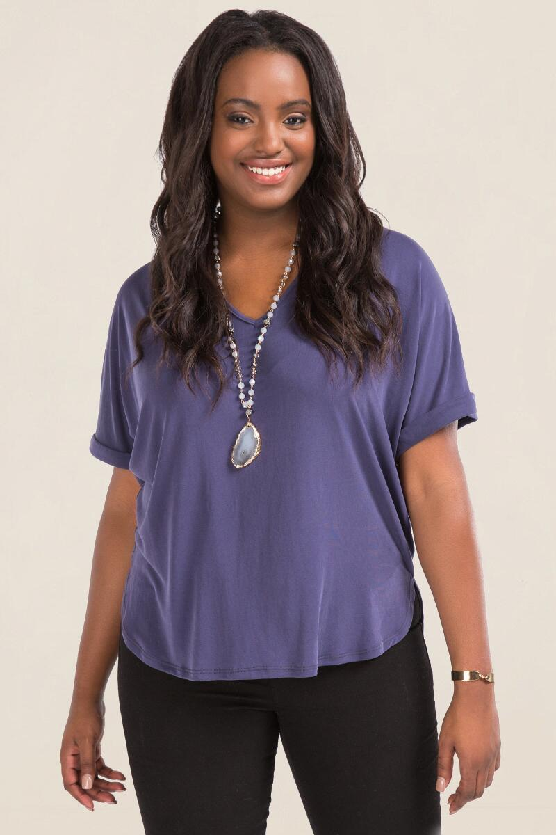 Plus Size Seanna Solid Top