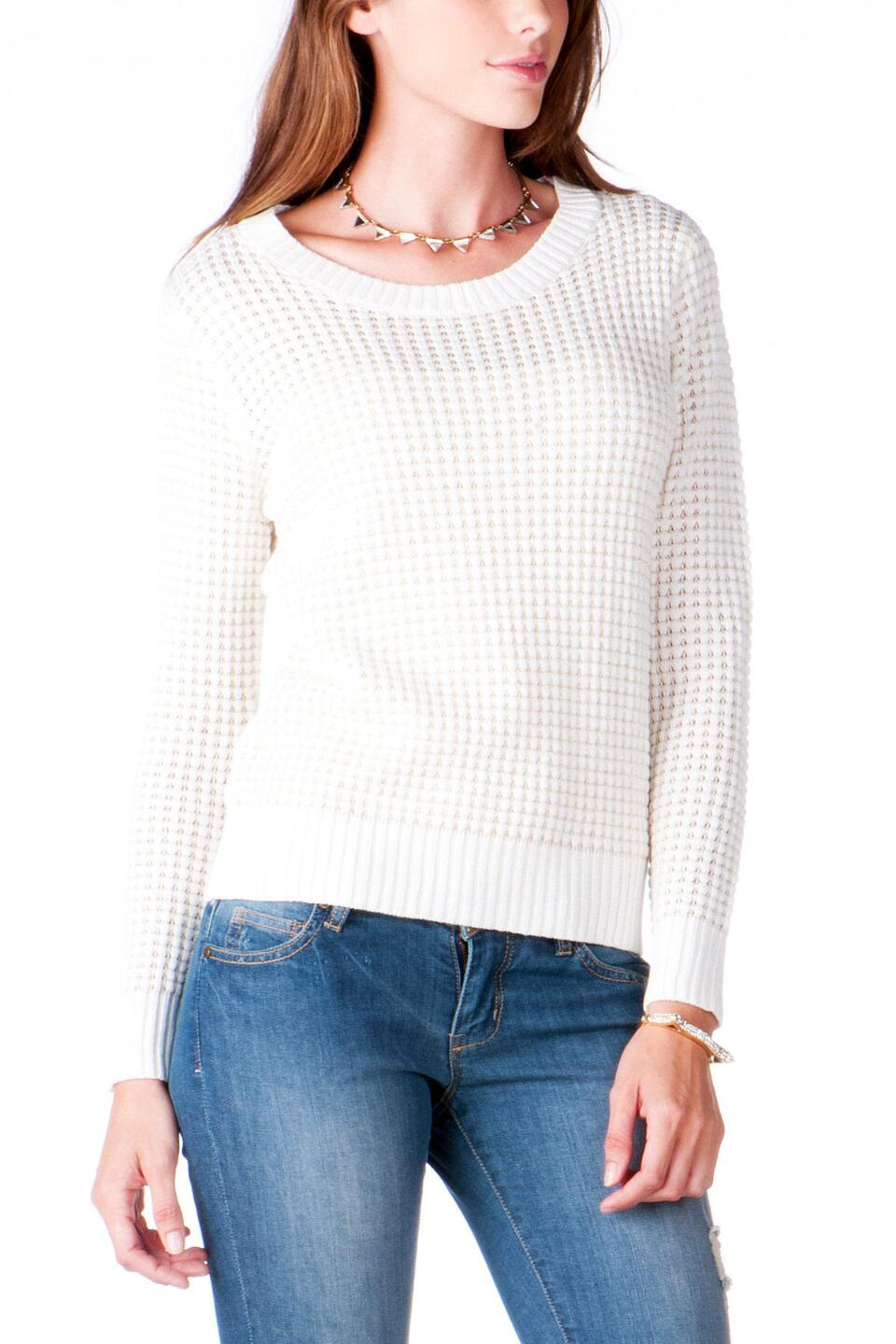 Texoma Textured Sweater-  ivry-cl