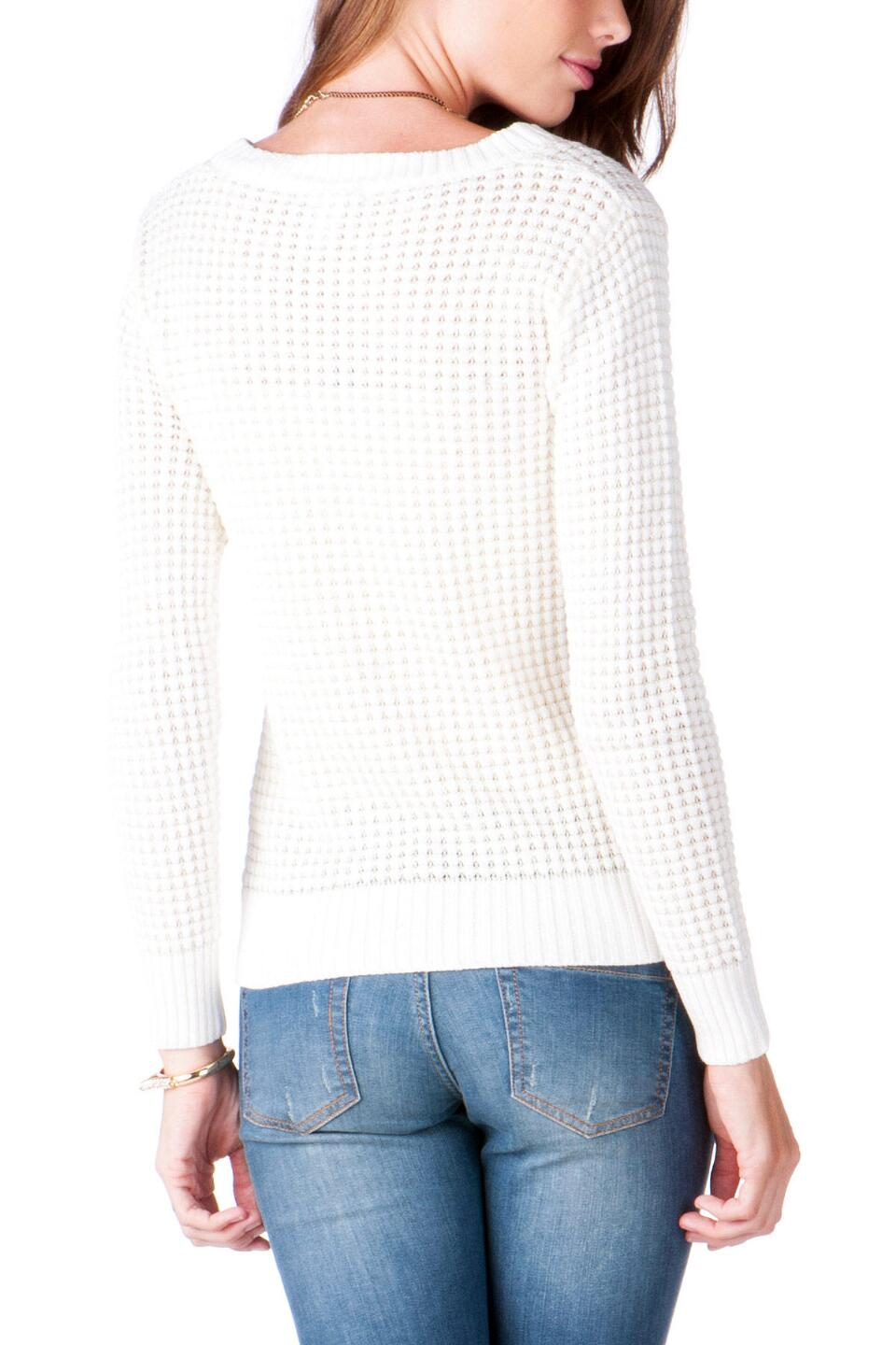 Texoma Textured Sweater-  ivry-clback
